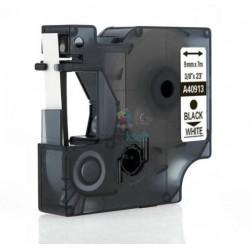 Dymo 40913 D1 (S0720680) - páska 9mm x 7m čierny tlač / biely podklad kompatibilný