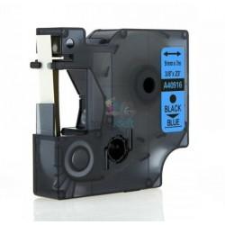 Dymo 40916 D1 (S0720710) - páska 9mm x 7m čierny tlač / modrý podklad kompatibilný