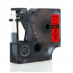 Dymo 40917 D1 (S0720720) - páska 9mm x 7m čierny tlač / červený podklad kompatibilný