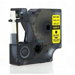 Dymo 40918 D1 (S0720730) - páska 9mm x 7m čierny tlač / žltý podklad kompatibilný