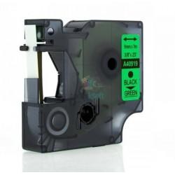 Dymo 40919 D1 (S0720740) - páska 9mm x 7m čierny tlač / zelený podklad kompatibilný