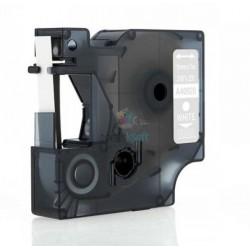 Dymo 40920 D1 - páska 9mm x 7m biely tlač / priehľadný podklad kompatibilný