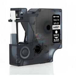 Dymo 40921 D1 - páska 9mm x 7m biely tlač / čierny podklad kompatibilný
