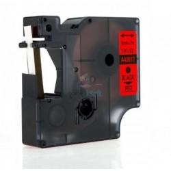 Dymo 43617 D1 - páska 6mm x 7m čierny tlač / červený podklad kompatibilný