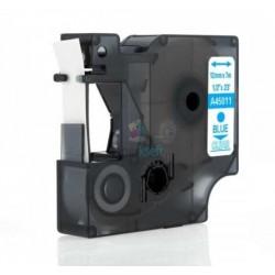 Dymo 45011 D1 (S0720510) - páska 12mm x 7m modrý tlač / priehľadný podklad kompatibilný