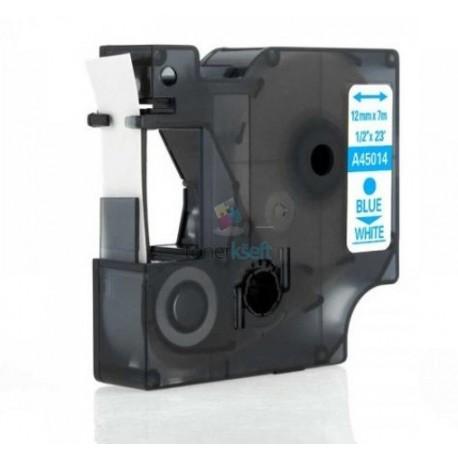 Dymo 45014 D1 (S0720540) - páska 12mm x 7m modrý tlač / biely podklad kompatibilný