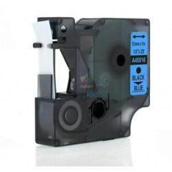 Dymo 45016 D1 (S0720560) - páska 12mm x 7m čierny tlač / modrý podklad kompatibilný