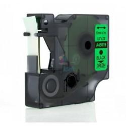 Dymo 45019 D1 (S0720590) - páska 12mm x 7m čierny tlač / zelený podklad kompatibilný
