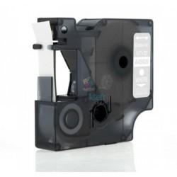 Dymo 45020 D1 (S0720600) - páska 12mm x 7m biely tlač / priehľadný podklad kompatibilný