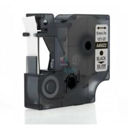 Dymo 45022 D1 (S0720620) - páska 12mm x 7m čierny tlač / strieborný podklad kompatibilný