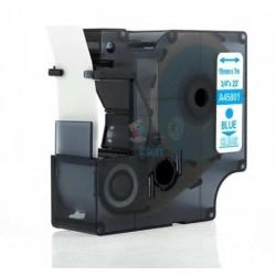 Dymo 45801 D1 (S0720810) - páska 19mm x 7m modrý tlač / priehľadný podklad kompatibilný