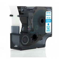 Dymo 45804 D1 (S0720840) - páska 19mm x 7m modrý tlač / biely podklad kompatibilný