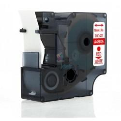 Dymo 45805 D1 (S0720850) - páska 19mm x 7m červený tlač / biely podklad kompatibilný