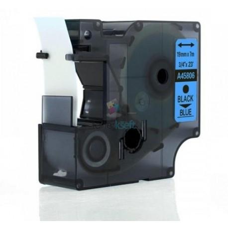 Dymo 45806 D1 (S0720860) - páska 19mm x 7m čierny tlač / modrý podklad kompatibilný