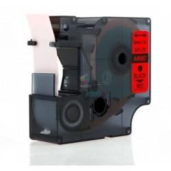 Dymo 45807 D1 (S0720870) - páska 19mm x 7m čierny tlač / červený podklad kompatibilný