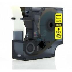 Dymo 45808 D1 (S0720880) - páska 19mm x 7m čierny tlač / žltý podklad kompatibilný