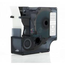 Dymo 45810 D1 (S0720900) - páska 19mm x 7m biely tlač / priehľadný podklad kompatibilný