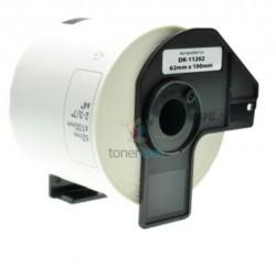 Brother DK-11202 (DK11202) - Kompatibilný papierové etikety samolepiace - 62mm x 100mm, Biele