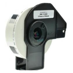 Brother DK-11204 (DK11204) - Kompatibilný papierové etikety samolepiace - 17mm x 54mm, Biele