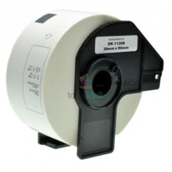 Brother DK-11208 (DK11208) - Kompatibilný papierové etikety samolepiace - 38mm x 90mm, Biele