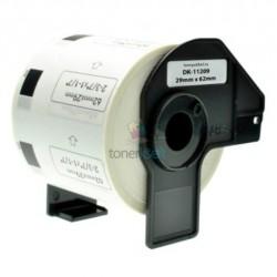 Brother DK-11209 (DK11209) - Kompatibilný papierové etikety samolepiace - 62mm x 29mm, Biele