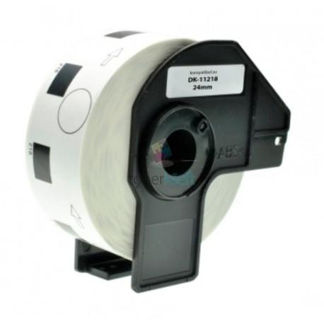Brother DK-11218 (DK11218) - Kompatibilný papierové etikety samolepiace okrúhle - Ø 24mm, Biele