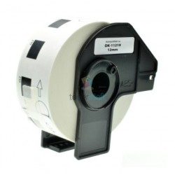 Brother DK-11219 (DK11219) - Kompatibilný papierové etikety samolepiace okrúhle - Ø 12mm, Biele
