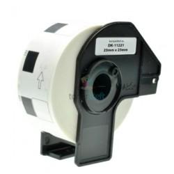 Brother DK-11221 (DK11221) - Kompatibilný papierové etikety samolepiace štvorcové - 23mm x 23mm, Biele