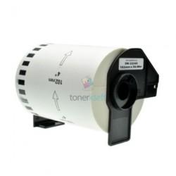 Brother DK-22243 (DK22243) - Kompatibilný papierové etikety samolepiace role - 102mm x 30,48, Biele