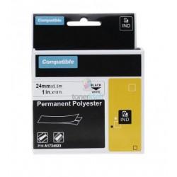 Dymo 1734523 Rhino - páska 24mm x 5,5m čierny tlač / biely podklad polyesterová kompatibilný