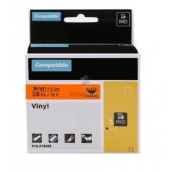Dymo 18435 Rhino (S0718490) - páska 12mm x 5,5m čierny tlač / oranžový podklad vinyl kompatibilný