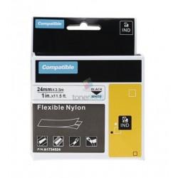 Dymo 1734524 Rhino (S0773840) - páska 24mm x 3,5m čierny tlač / biely podklad nylon flexi kompatibilný