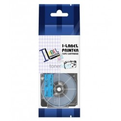 Casio XR-6BU1 / Casio XR-6BU - páska 6mm x 8m čierny tlač / modrý podklad kompatibilný