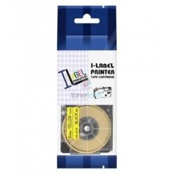 Casio XR-6YW1 / Casio XR-6YW - páska 6mm x 8m čierny tlač / žltý podklad kompatibilný