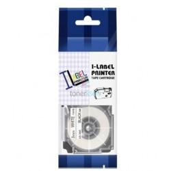 Casio XR-6WE1 / Casio XR-6WE - páska 6mm x 8m čierny tlač / biely podklad kompatibilný