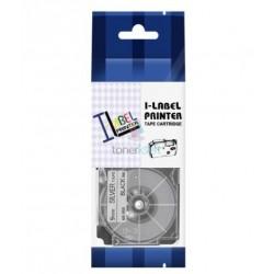 Casio XR-9SR1 / Casio XR-9SR - páska 9mm x 8m čierny tlač / strieborný podklad kompatibilný