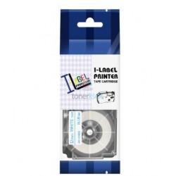 Casio XR-12WEB - páska 12mm x 8m modrý tlač / biely podklad kompatibilný