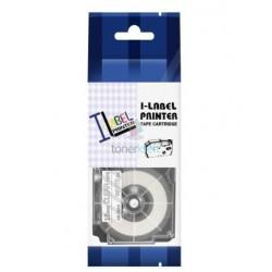 Casio XR-18AX1 - páska 18mm x 8m biely tlač / priehľadný podklad kompatibilný