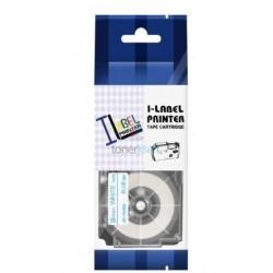 Casio XR-18WEB - páska 18mm x 8m modrý tlač / biely podklad kompatibilný