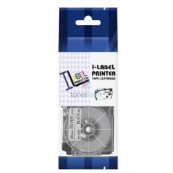 Casio XR-24SR1 - páska 24mm x 8m čierny tlač / strieborný podklad kompatibilný