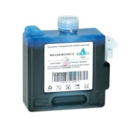 Kompatibilný Canon BCI-1421C / BCI1421C (8368A001) C Cyan - modrá cartridge s čipom - 330 ml