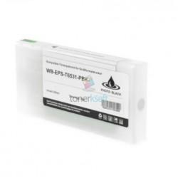 Kompatibilný Epson T6531 / T-6531 XL (C13T653100) PBK Photo Black - foto čierna cartridge s čipom - 200 ml