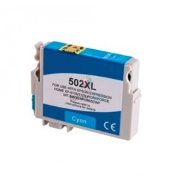 Kompatibilný Epson 502XL / 502 XL (C13T02W24010) C Cyan - modrá cartridge s čipom - 14 ml