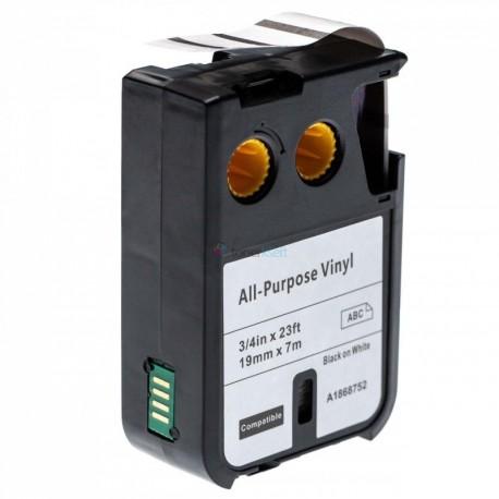 Dymo 1868752 XTL - páska 19mm x 7m čierný tlač / biely podklad vinyl kompatibilný