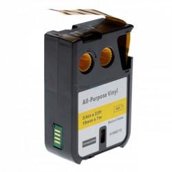 Dymo 1868772 XTL - páska 19mm x 7m čierný tlač / žltý podklad vinyl kompatibilný