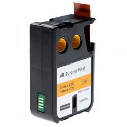 Dymo 1868767 XTL - páska 19mm x 7m čierný tlač / oranžový podklad vinyl kompatibilný