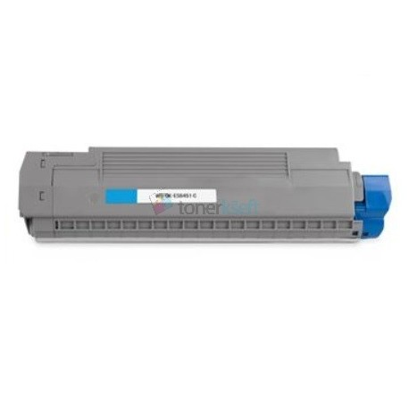 OKI 44059259 (ES8451) C Cyan - modrý kompatibilný toner - 9.000 strán, 100% Nový