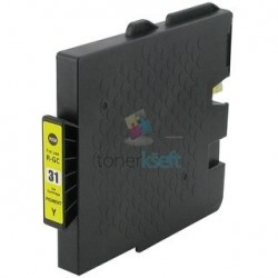Ricoh GC31 / GC31 (405691) Y Yellow - žltá Ricoh kompatibilné cartridge s čipom - 27 ml