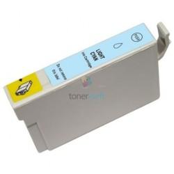 Kompatibilný Epson T0805 / T-0805 LC Light Cyan - modrá cartridge s čipom - 18 ml
