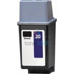 Kompatibilný HP 20 / C6614DE HP č.20 BK Black - čierna cartridge s čipom - 40 ml